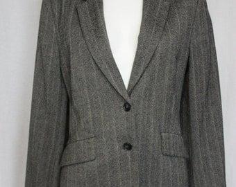 ON SALE Herringbone tweed jacket tailored new wool Christian Berg Stockholm  jacket EU 44 Us 12