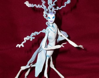 "Winter Wood Sprite Fairy ""Valia"" - Hand Sculpted Figurine - OOAK - BEAUTIFUL!!"