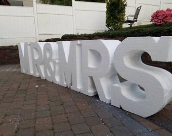 styrofoam letter large foam letters big foam letters foam letters large large styrofoam letters big foam lettersmr and mrs wedding decor
