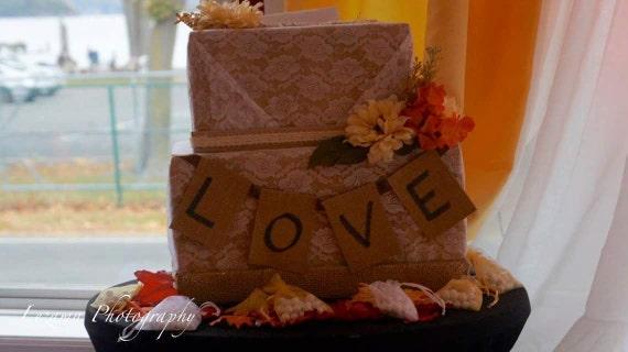 ... wedding-Wedding card box-autumn wedding card box-gift box -card box