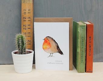 Robin Watercolour Art Greeting Card