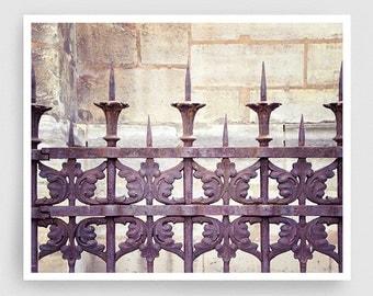 Paris photography - Old church fence,Paris photo,Fine art photography,Paris decor,8x10 wall art,brown,Fine art prints,Art Posters,Paris art
