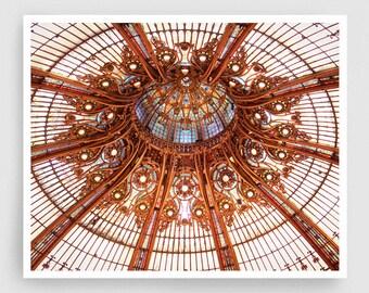 Paris, Galeries Lafayette - Paris photo,Art,Fine art photography,Paris home decor,8x10 wall art,white,Paris decor,brown,paris shopping