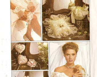 Simplicity 8530 Retro 1980s Bridal Accessories Set Sewing Pattern