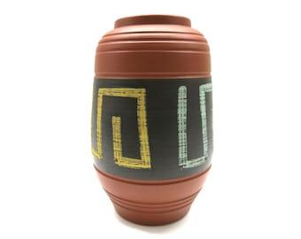 60s german pottery vase - design  josef duck mid century