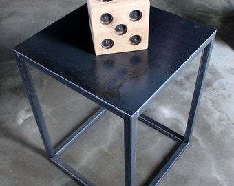 Steel Cube side table