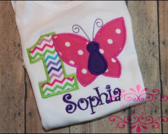 Butterfly Birthday Shirt or Bodysuit