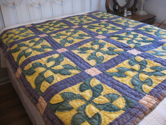 Feedsack Quilt, 1930's Fool's Puzzle