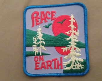 embroidered peace on earth patch