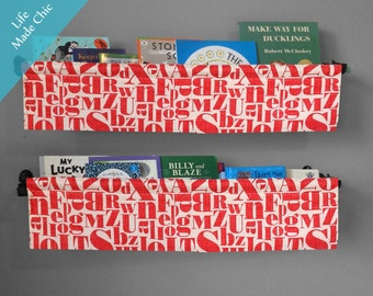 ALPHABET Book Slings in Michael Miller's 'Just My Type'--Red and cream