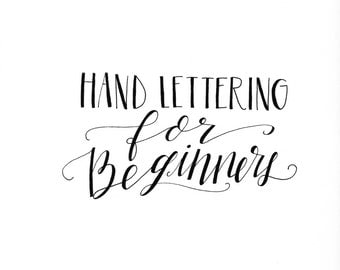 ONLINE Hand Lettering Workshop for Beginners