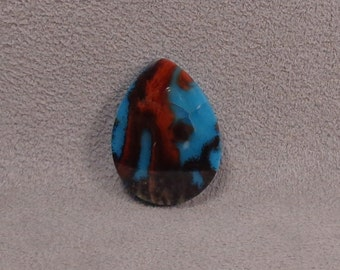 MEXICAN FLAME AGATE Cabochon Doublet