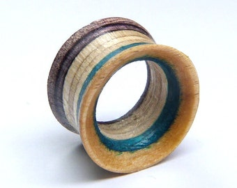 Recycled Skateboard, Single Tunnel, Plugs and Tunnels, Ear Gauge, Broken Skateboards, Wooden Plug, Wood Tunnel