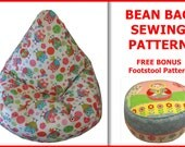 Kids BEAN BAG Sewing Pattern -  Children Chair Beanbag Lazy Sofa Cushion (INSTANT Download)