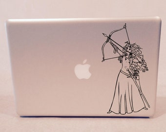 Merida with Bow and Arrow Vinyl Decal