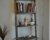 Reserved for Kristin. Ebony ladder bookshelf