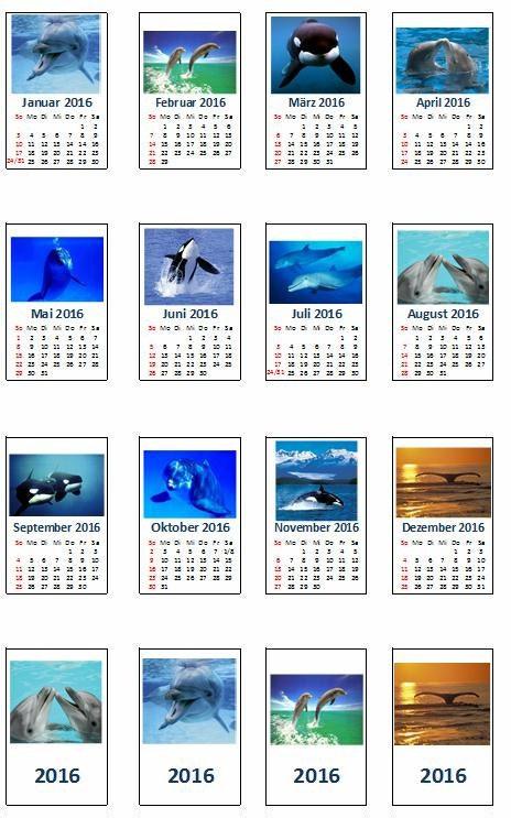 2208 kalender 2018 zum selberbasteln mit motiv delfine f r for Kalender zum selberbasteln