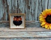 Owl Small Square Catch All Trinket Dish