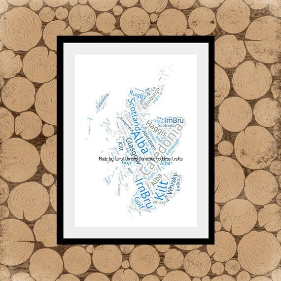 Map of scotland word art scotland map map of scotland like this item gumiabroncs Choice Image