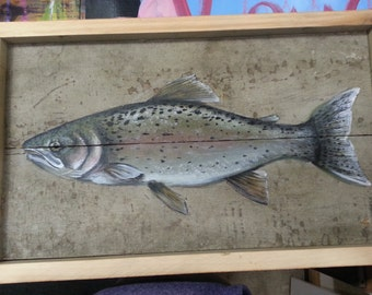Fish Painting, Rainbow Trout