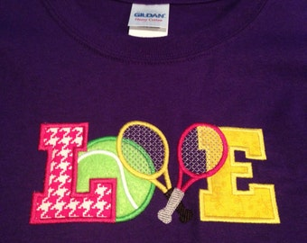Tennis LOVE embroidered shirt