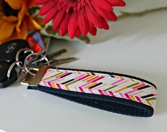 Herringbone Multi Color Key Fob
