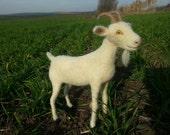 Needle felted OOAK Goat, Soft sculpture, fiber art goat