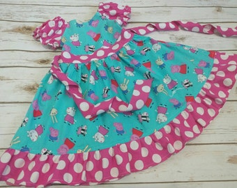 Peppa Pig Dress Made To Order