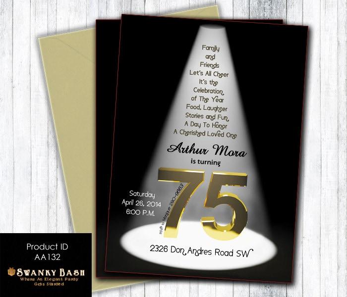 75th birthday invitations gangcraft th birthday etsy birthday invitations bookmarktalkfo Image collections