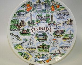 Florida Souvenir Plate Florida State Plate