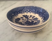 Blue Willow Bowls, Vintage Blue Willow, Blue and White, Vintage Cereal Bowl, Made in Japan, Chinoiserie