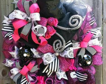 Witch wreath,Halloween witch wreath,Halloween decor,Halloween pumpkin,Fall witch,Halloween wreath,Witch hat,witch boots,Fall wreath
