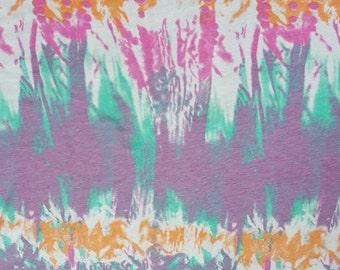 Cotton Modal Spandex Tie Dye Print #14 Fabric Jersey Knit by the yard 8/16