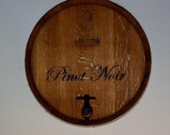Wine Barrel  Round Wall/ Handmade, Pinot Noir