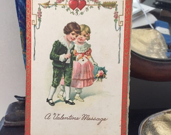 Vintage Valentine Postcard Paper Ephemera Romantic Love  Sweetheart Postcards Collectibles