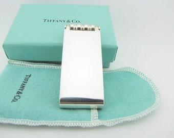 Sterling Silver Money Clip Tiffany By Picasso Money Clip Roller Groove Money Clip Bill Holder Dad Husband Money Clip Father's Day Gifts