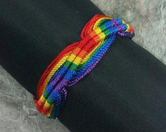 Rainbow Jewelry - Rainbow Bracelet -LGBT Bracelet Gay Pride Bracelet - Braided Bracelet - Rainbow Braid - Friendship Bracelet Handmade