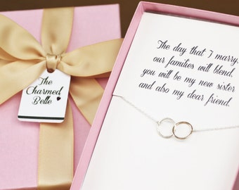 Sister in Law, New Sister, Wedding, Necklace, Wedding Gift, Shower Gift, Bridal Party, Sister, new sister, sister in law gift, BSIS5