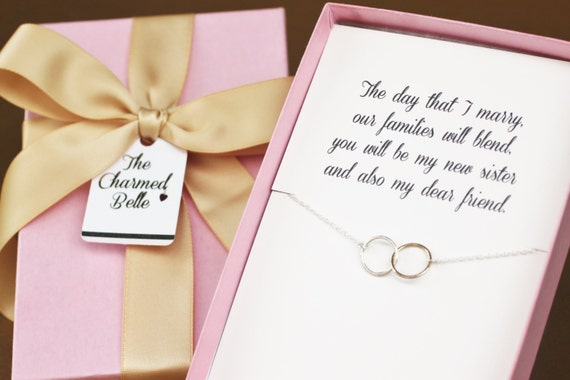 Sister in Law New Sister Wedding Necklace Wedding Gift
