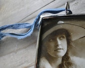 French Woman Pendant Necklace Music Pendant