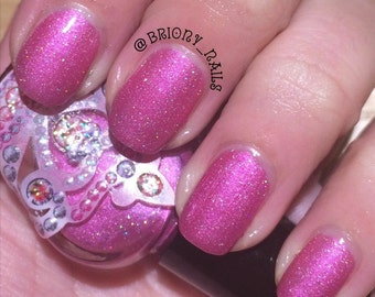 Summer Wine by Polish Me, Royalty! 5-toxin free, cruelty free, handmade pink holographic nail polish