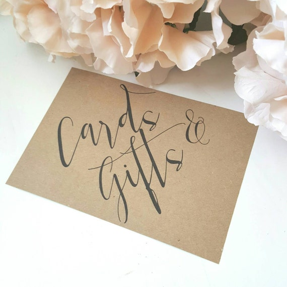 Cards And Gift Sign Wedding Card Sign Party Signage