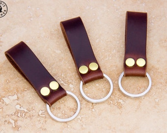 Leather Keyring (dark brown Horween Chromexcel)