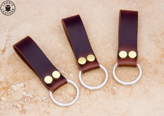 Leather Keyring (dark brown Horween Chromexcel)