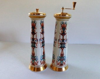 Lenox Salt & Pepper Mill Set Vintage, Lido by Lenox Vintage