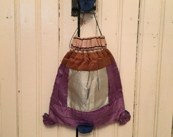 Victorian silk sewing bag
