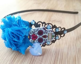Sugar skull headband - Halloween headband - gothic hair accessories - sugar skull - gothic headband - halloween hair accessories - halloween