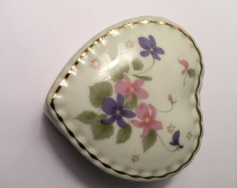 Vintage Heart Shaped Dish with Lid