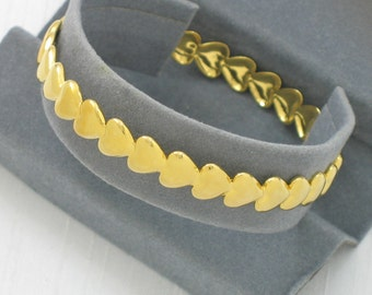 1993 Vintage AVON 'Hearts Around My Heart' Bangle Bracelet with original box. 2 Sizes Available. Avon Heart Bracelet. Vintage Avon Jewelry