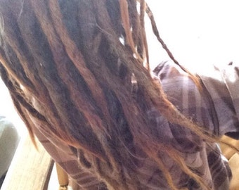 55 Human Hair knotty dread Extensions (full head)
